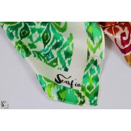 Foulard en soie - Ikat - vert