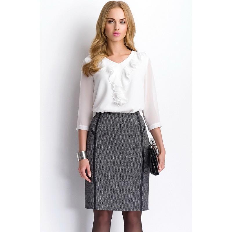 Tailleur jupe longue blanc