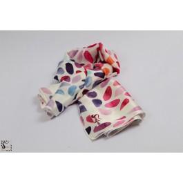 Foulard en soie - Rainbow - ton rose