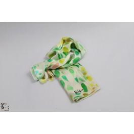 Foulard en soie - Rainbow - ton vert & jaune
