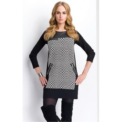 Robe tunique imprimé damier