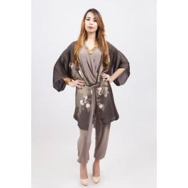 Veste kimono imprimé