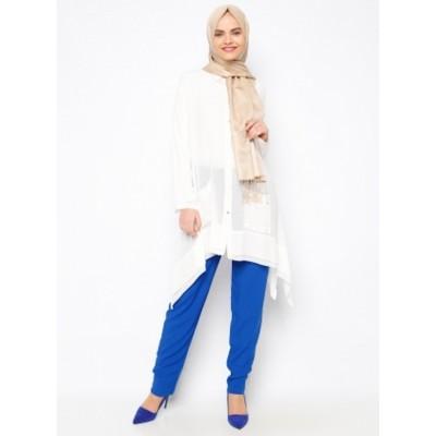 Pantalon fluide avec poches - bleu roi
