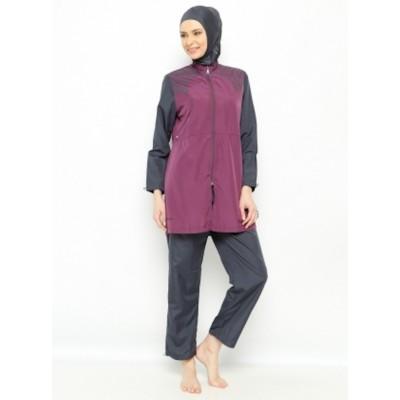 Maillot de bain hijab - prune