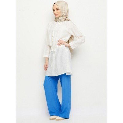 Pantalon large - bleu azur