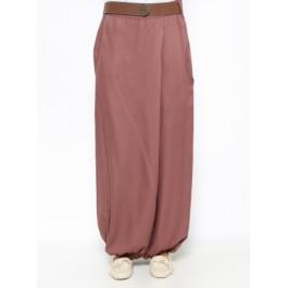 Pantalon coupe portefeuille avec poches - rose