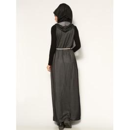 Robe longue sans manches en denim