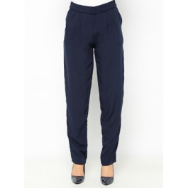 Pantalon fluide avec poches - bleu nuit