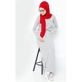 Robe longue zippée sur le devant