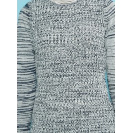 Pull tunique maille chinée