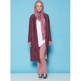 Cardigan long effet loose