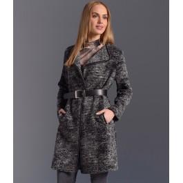 Manteau en laine chinée