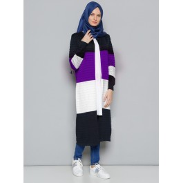 Cardigan long ouvert maille Ottoman
