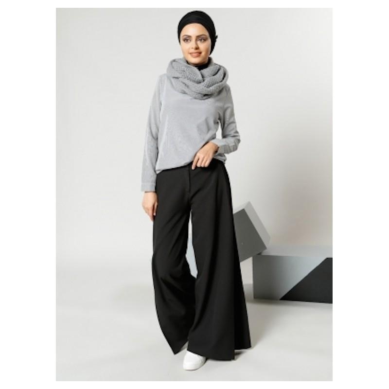 pantalon noir large. Black Bedroom Furniture Sets. Home Design Ideas