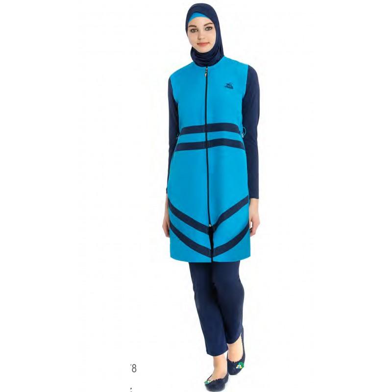 Bien connu Maillot de bain hijab bleu ciel & nuit - UrbaineChic.ma GE98