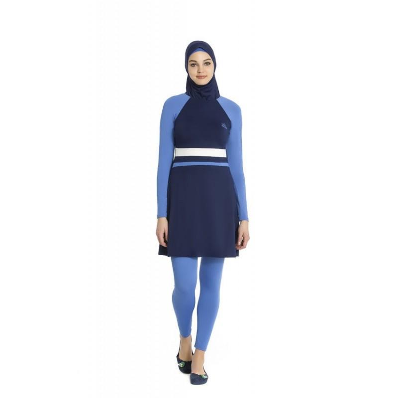 Maillot de bain hijab bleu nuit bleu ciel for Piscine preformee
