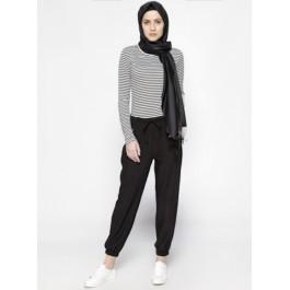 Pantalon sport raccourci - noir