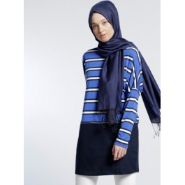 Pull tunique tricolore