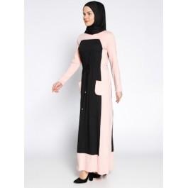 Robe longue bicolore
