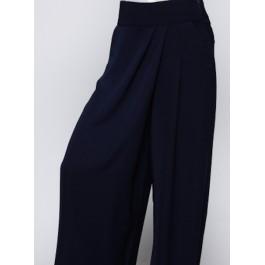 Pantalon large à pans bleu nuit