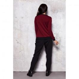Blouson femme bicolore zippé - Bordeaux