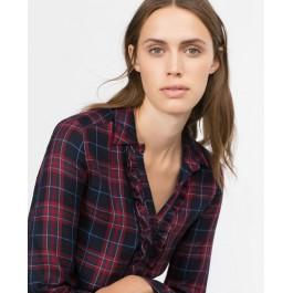Chemise femme à carreaux