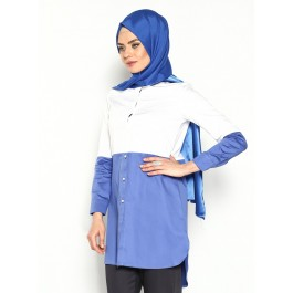 Tunique chemise bicolore