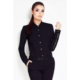 Chemise femme cintrée - manches zippées